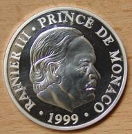 Médaille Monaco 50 ème Anniversaire Du Règne De Rainier III 1999 - Jetons & Médailles