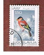 JUGOSLAVIA (YUGOSLAVIA)   - SG 1325   -    1968  BIRDS: FRINGILLA COELEBS   USED - 1945-1992 Repubblica Socialista Federale Di Jugoslavia