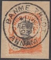 Indochine Province De L'Annam - Banme-Thuot Sur N° 103 (YT) N° 104 (AM). Oblitération De 1923. - Oblitérés
