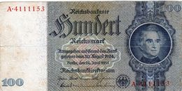 Billet Allemand De 100 Reichsmarks Du 24 Juin 1935 - - [ 4] 1933-1945: Derde Rijk