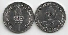 India 1 Rupee 2002.   KM#313 100th Anniversary Birth Of Jaya Prakash Narayan High Grade - Inde
