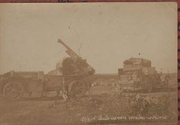 Guerre 1914 1918  Photo Auto Canon De 75  Et Son Camion De Ravitaillement - 1914-18