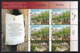 2010 - VATICANO-ISRAELE - Viaggio Del Papa In Terra Santa - BF - MNH ** - Emissioni Congiunte