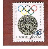 JUGOSLAVIA (YUGOSLAVIA)   - SG 1345   -    1968  OBLIGATORY TAX. OLYMPIC GAMES FUND (AZTEC KALENDAR)  USED - 1945-1992 Repubblica Socialista Federale Di Jugoslavia