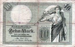 Billet Allemand De 10 Marks Du 06 Octobre 1906 - - [ 2] 1871-1918 : Duitse Rijk