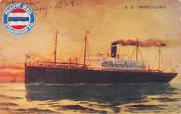 Paquebot Manchuria Pacific Mail Steamship Co - Steamers