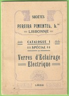 Lisboa - Catalogue Spécial De La Sociétés Pereira Pimentel, Lda. - Fábrica De Vidros E Candeeeiros Glass Verre France - Publicités