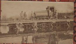 Guerre 1914 1918  Photo  Train Militaire à Pétrole Artillerie - 1914-18