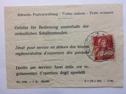 SWITZERLAND - 1932 Switzerland Postal Administration Receipt With Zurich Marks A7 No. 3156 - Schweiz