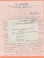 LETTRE EN F.M. AVEC SA CORRESPONDANCE A.ROURE AG. GENE. D'HORTICULTURE RUE DE SOULINS BRUNOY (S.&O.) - Vieux Papiers