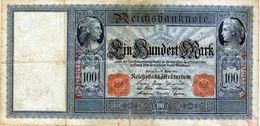 Ancien Billet Allemand De 100 Mark Du 21-04-1910 - En B - - [ 2] 1871-1918 : German Empire