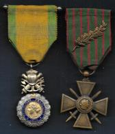 Guerre 14 - 18 -- 2 Médailles , Médaille Militaire Et Croix De Guerre - Frankreich