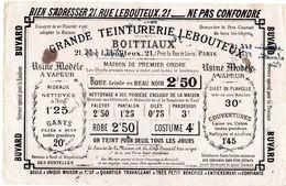 Ancien Buvard Publicitaire - Grande Teinturerie Lebouteux - - Textile & Clothing
