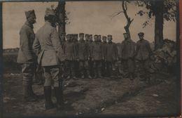 Guerre 1914 1918  Officiers Français Et Prisonnier Allemand - 1914-18