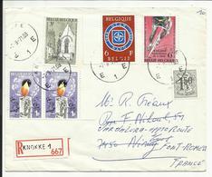 Lettre Recommandée BELGE , 1971 , Postée De KNOKKE ( Belgique ) Pour FONT ROMEU ( France ) - Belgique