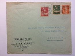 SWITZERLAND - 1926 Cover Lausanne To London With Express Letter Cancel - Covers & Documents