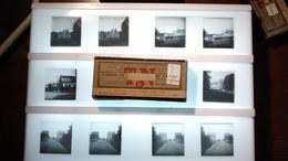 LOT DE 13 Plaques De Verre Stéréoscopique LION SUR MER CALVADOS NORMANDY  FRANCE Fonds Victor FORBIN 1864-1947 - Glass Slides