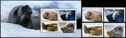Australian Antarctic Territory AAT 2018 Crabeater Seals 4v + SS MNH - Australian Antarctic Territory (AAT)