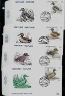 FDC Des N° 2332/5 Du Carnet Canards (B19)  Obl. Athus 02/09/89 - 1985-.. Vogels (Buzin)