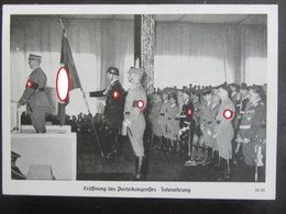 Postkarte Reichsparteitag - Hitler Himmler Hess 1938 - Allemagne