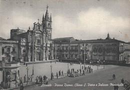 ACIREALE - PIAZZA DUOMO,CHIESA S.PIETRO E PALAZZO MUNICIPALE - Acireale