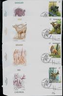 FDC Des N° 2748/51 (Sanglier-Renard - Chevreuil- Cerf  Obl. Marche En Famenne 18/04/1998 + Signature A. Buzin - 1985-.. Oiseaux (Buzin)