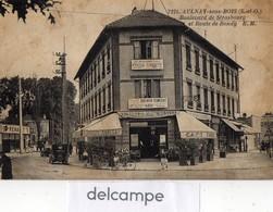 CPA -  AULNAY Sous BOIS (93)  Boulevard De Strasbourg Et Route De Bondy - Brasserie - Boussarie TSF - Garage Renault - Aulnay Sous Bois