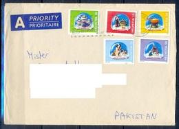 K791- Postal Used Cover. Posted  From Helvetia Switzerland To Pakistan.Birds. Animals. - Switzerland