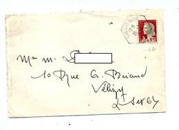 Lettre Cachet Rural Sail Les Bains - Postmark Collection (Covers)