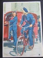 """Postkarte """"Frauen Schaffen Für Euch"""" - Reichspost - Allemagne"""