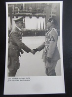 Postkarte Hitler Und Mussolini 1937 - Heinrich Hoffmann - Briefe U. Dokumente