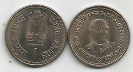 India 1 Rupee 1990. Dr.B.R.AMBEDKAR  CENTENARY KM#85 High Grade - Inde