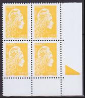 Bloc De 4 TP Neufs ** N° 5248(Yvert) France 2018 - Marianne L'Engagée 0,01 €, Repère En Marge - 2018-... Marianne L'Engagée