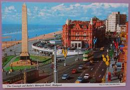 BLACKPOOL, LANCASHIRE - The Cenotaph And Butlin's Metropole Hotel - Cars - Vg - Blackpool