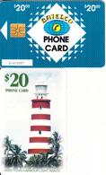 BAHAMAS ISL.(chip) - Lighthouse, Hope Town Harbour/Abaco(BAH C18), Chip GEM1b, Used - Bahamas