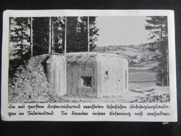 Postkarte Festungswerke Sudetenland - Bunker - Schöber-Kreuzbuchen - Erhaltung II-III - Briefe U. Dokumente