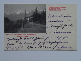 Alto Adige 164 Obermais Meran Merano Maia Alta Pension Borgfeldhof 1910 - Italia
