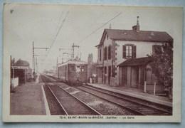 Saint-Mars-la-Brière(Sarthe)-La Gare-Train - Autres Communes