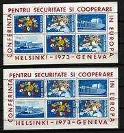 RUMÄNIEN - Block Nr. 108 Europäische Sicherheitskonferenzen (KSZE), Helsinki Und Genf Postfrisch + Gestempelt - Blocks & Kleinbögen