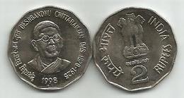 India 2 Rupees 1998. KM#296 Deshbandhu Chittaranjan - Inde
