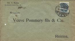 Lettre Postée De KJOBENHAVN ( Danemark ) Pour Le CHAMPAGNE VEUVE POMMERY FILS & C° à REIMS ( France ) En 1903 - 1864-04 (Christian IX)