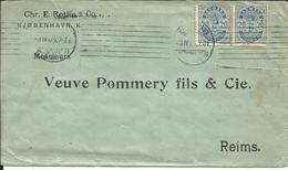 Lettre Postée De KJOBENHAVN ( Danemark ) Pour Le CHAMPAGNE VEUVE POMMERY FILS & C° à REIMS ( France ) En 1905 - Lettres & Documents