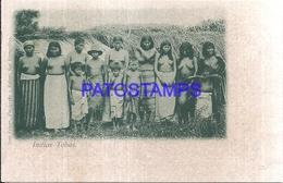 111985 PARAGUAY COSTUMES NATIVE INDIOS TOBAS POSTAL POSTCARD - Paraguay