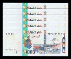 Argelia Lot Bundle 5 Banknotes 1000 Dinars 2018 (2019) Pick New Design SCUNC - Argelia