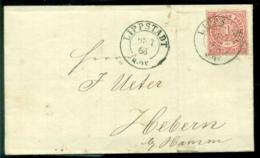 Deutsches Reich Norddeutscher Postbezirk 1868 Brief Von Lippstadt Nach Hamm Mit Mi 4 - North German Conf.
