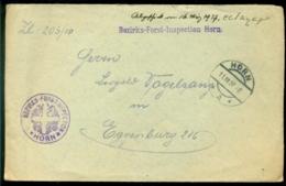 Deutsches Reich 1927 Brief Von Bezirks-Forst-Inspection Horn Nach Eggenburg - Alemania