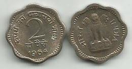 India 2 Paise 1964. KM#12 High Grade - Inde