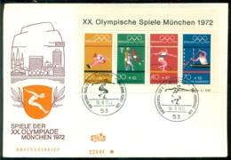 Deutschland 1972 FDC Olympische Spiele München Block Mi 8 - [7] République Fédérale