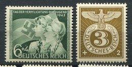 Allemagne ** N° 760 - 762 - Au Profit Du Secours D' Hiver- Serment Prté Par La Jeunesse - Neufs