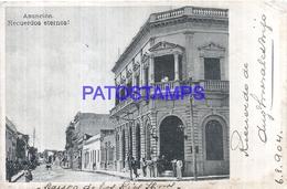 111987 PARAGUAY ASUNCION BANK BANCO DE LOS RIOS Hnos CIRCULATED TO URUGUAY POSTAL POSTCARD - Paraguay